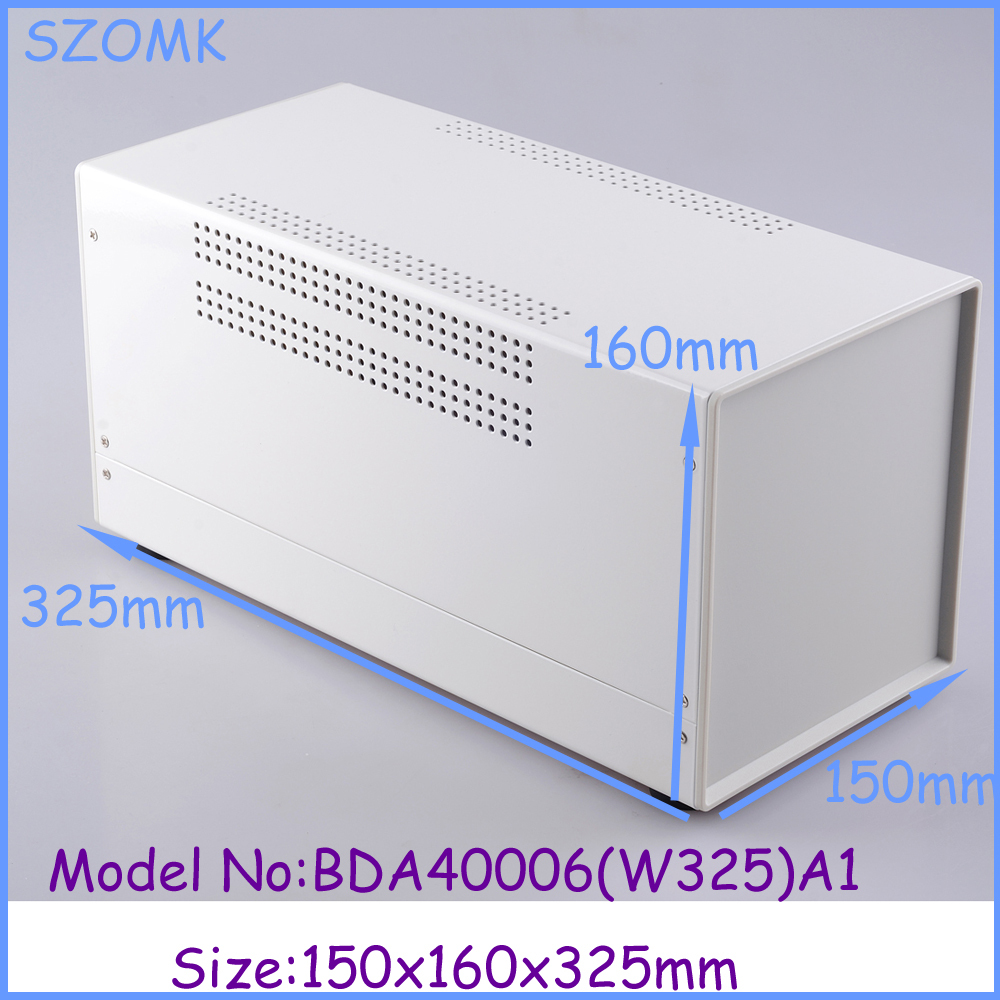 (1pcs)150x160x325mm szomk new electronic project box pcb holder electrical box metal enclosure switch box iron electronics box<br>