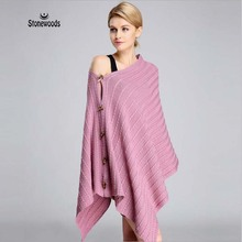 Blanket Scarf luxury Brand The Rabbit Wool Blended Pashmina Keep Warm Multi-Purpose Knit Ponchos And Capes Shawl Cashmere Scarf