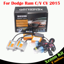 Cawanerl 55W Car Error Free Ballast Bulb Headlight Headlamp Canbus HID Xenon Kit 3000K-8000K For Dodge Ram CV C/V 2015