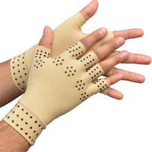 1 Pair Arthritis therapy gloves Relief Arthritis Pressure Pain Heal Joints Magnetic Therapy Gloves support Hand Massager