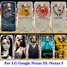 AKABEILA Silicon Hard PC Cases For LG Google Nexus 5X 5 8 Nexus5X G3S G3 Mini G3 Beat S D724 X Cam K580 Game Thrones Flag Covers