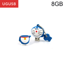 Hot cheap cute cartoon Doraemon PVC Usb flash drive Pen drive Usb memory stick thumb Pendrive Usb disk 1GB 2GB 4GB 8GB 16GB 32GB(China)