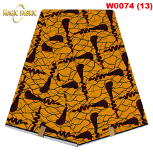 Free Shipping 2017 Super Wax Hollandais African Hollandais Real Dutch Wax Veritable Wax Hollandais For Garment   W0074(13-18)