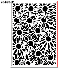 MANY SUNFLOWER BACKGROUND Scrapbook DIY photo cards account rubber stamp clear stamp transparent stamp Handmade card stamp(China)