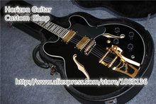 China Music Instruments Jazz Hollow Electric ES Guitar Bigsby with Hard Case Include Shipping(China)