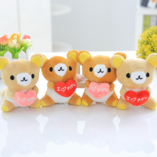 GGS 10cm Rilakkuma plush toy lovey Cute Easy bear brown teddy bear plush toy dolls key-chain wedding gift doll for kids girls(China)