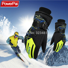 Winter Warm Snowboard Ski Gloves men women mountain Skiing snowmobile waterproof snow motorcycle Gloves Windproof guanti moto(China)