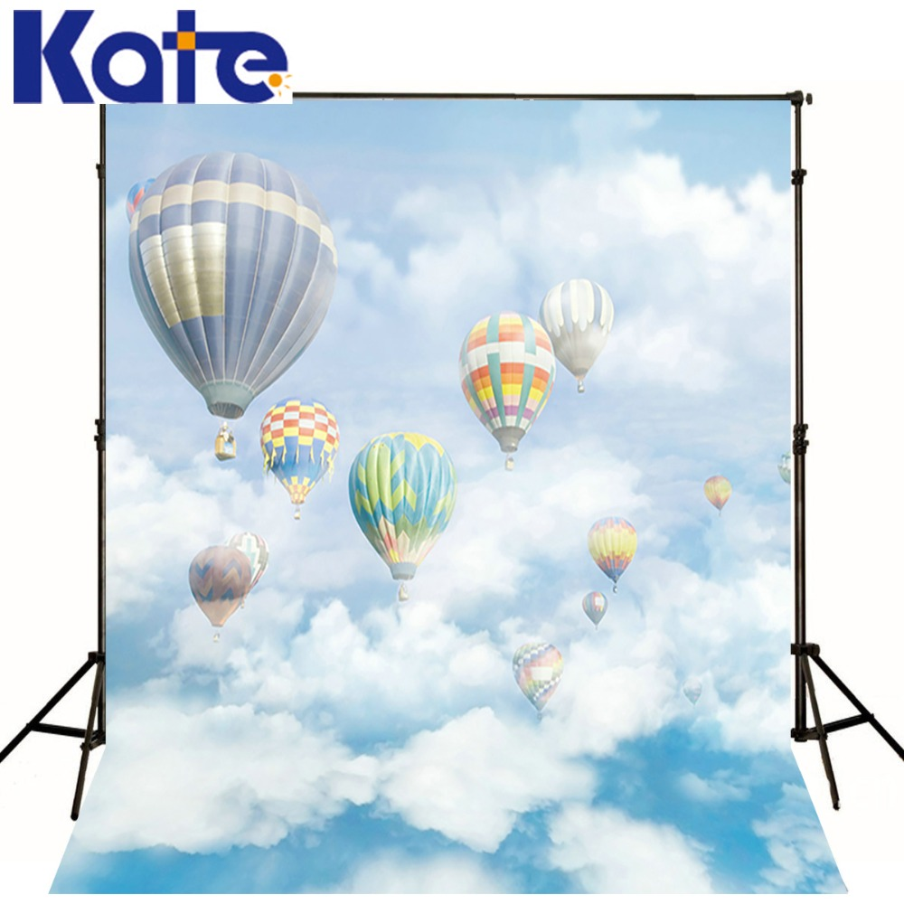 New Arrival Background Fundo Hot Air Balloon Sky Clouds 600Cm*300Cm Width Backgrounds Lk 2616<br>