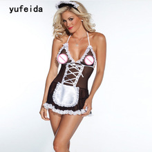 Buy YUFEIDA Lingerie Sexy Hot Erotic Toys Babydoll Things Dolls Cosplay Sheer Naughty Muslin Maid Uniform Babydoll Porn Costumes