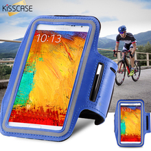 KISSCASE Sports Running Arm Band Bag Leather Case For Samsung Galaxy S8 Note 3 4 5 S6 Edge Plus S7 Edge Bags For LG G3 G4 Cover(China)