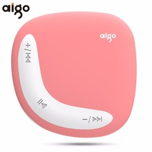 Aigo Portable Mini Clip MP3 Player Macaroon Color Design Support TF Card Stereo Music Player with USB data line(China)