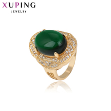 11.11 Xuping Fashion Ring 2017 Luxury Top Sale Rings for Women Gold Color Plated Synthetic CZ Jewelry Promotion Party Gift 12846