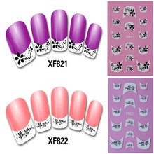 Stickers Nail Art Tips French flower Decorations Nail Decals Nail Patch Manicure New Designs Colorful DIY(China)