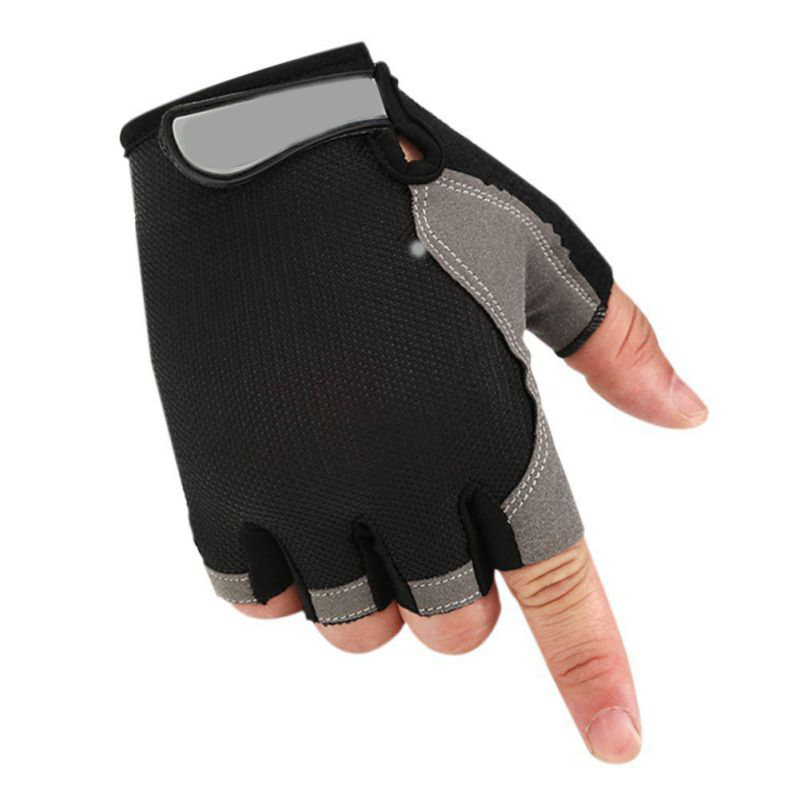 Durable High Quality LED Half Finger Cycling Bicycle Gloves Safety for Running