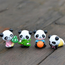 Mini Panda Figure miniature figurine cartoon character aniaml statue Model Kids gift japanese anime Resin craft ornaments TNA150