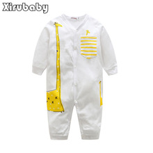 Baby rompers 2017 new pattern giraffe infant boy and girl body suit ropa de bebe toddler jumpsuit clothing newborn baby clothes(China)