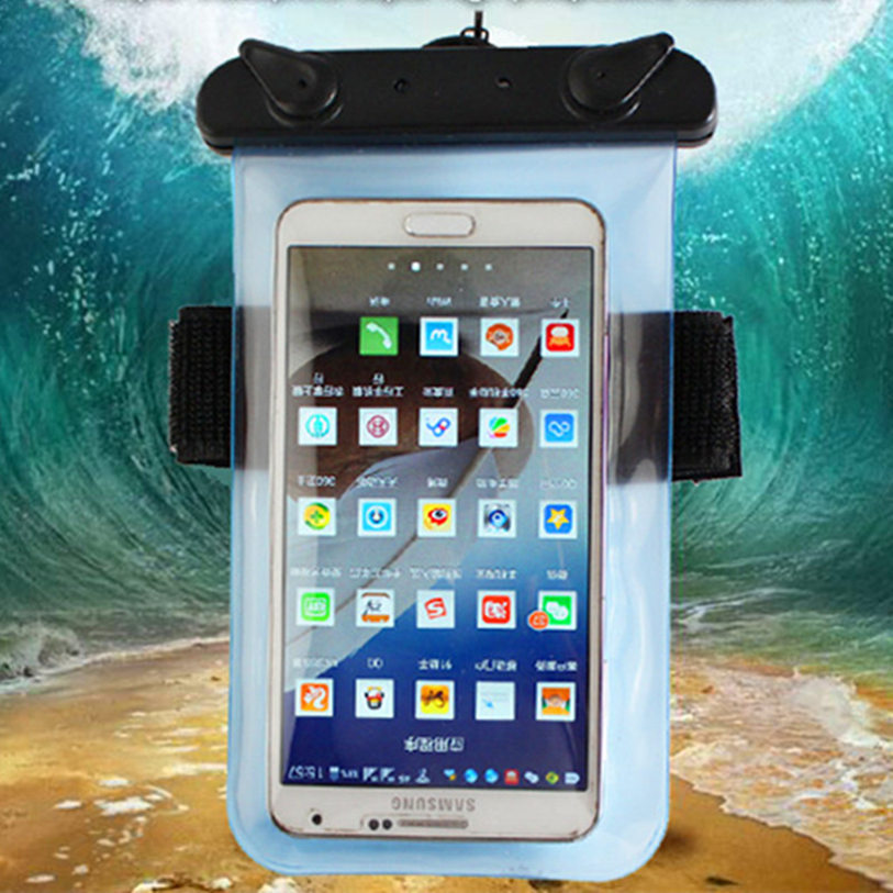 Universal 100% Sealed Waterproof Mobile Phone Bags with Strap Dry Pouch Cases Cover For Sony Xperia T Lt30i Lt30p Phone Pouch(China)