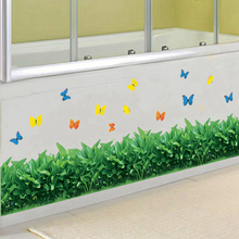 Butterfly Grass Stickers Wall Sticker Wall Art Home Decoration Accessories Bedroom Decor Wall Stickers Home Decor Living Room
