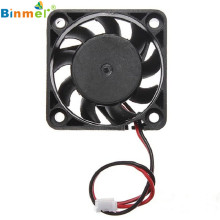 Adroit 12V 2 Pin 40mm Computer Cooler Small Cooling Fan PC Black F Heat Sink MAR26(China)