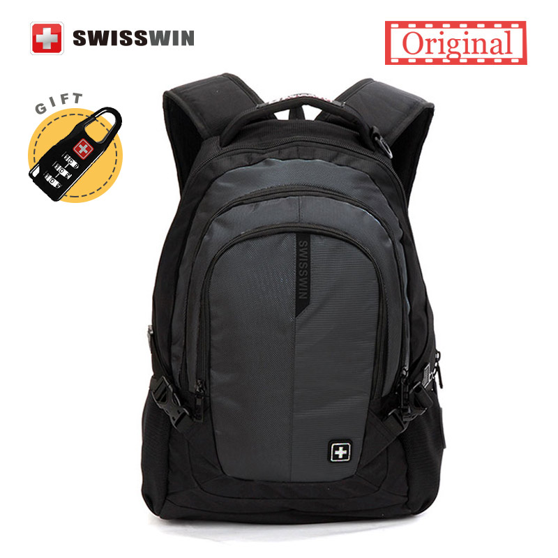 Hot Sale Multifunction Swiss Brand Backpack Waterproof 15,6 Laptop Bag School Backpack for Teens mochila escolar Mens Bagpack<br>
