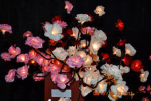 "Battery Type Blossom mini Rose Branch Light 20"" 48 LED Christmas branch light wedding table decoration branch twig light"