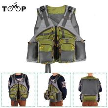 Adjustable Fly Fishing Vest Premium Gear Packs and Vests Mesh Fishing Vest for Fly Fishing for Men and Women(China)