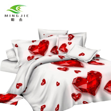 HD Reactive Printing Polyester Bedding Sets Double-sided Pattern Bedding Set Queen Bedding for Kids Adult Bedroom