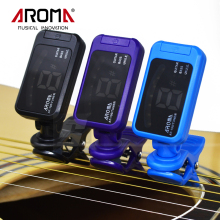 New Arrival Universal Portable Black Clip-On LED Guitar Bass Ukulele Digital Tuner Aroma AT-100(China)