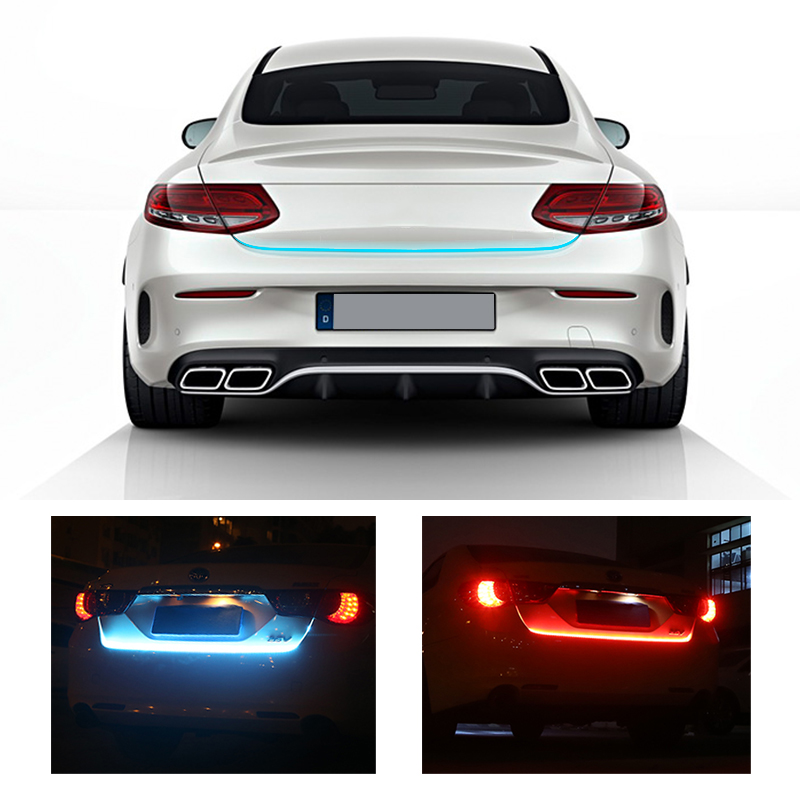 OKEEN car-styling Red/Blue LED Trunk light Strip Rear light /braking light/ signal light/ automobiles for mercedes peugeot 307(China)