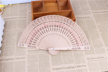 200pcs/lot fragrance wood fan Chinese style wedding fan with bride & groom's name & wedding date personalized(China)