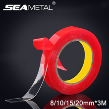 Buy 8/10/15/20mmX 3M Car Glue Double Side Tape Car Stickers Interior Accessories Double Side Transparent Adhesive Decoration Sticker for $1.27 in AliExpress store