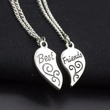 NK736 New Bijoux Fashion Charming Matching Best Friend Love Heart Shape Pendant Necklaces For Women Chain Jewelry Gift clavicle