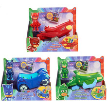 Bigger size 1pc Pj Masks Characters Catboy Owlette Gekko Cloak Action Figure Toys Boy Birthday Gift Plastic Dolls 14cm car
