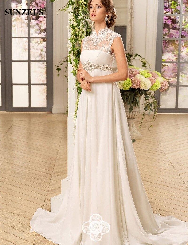 Ausgezeichnet Chiffon Empire Taille Hochzeitskleid Ideen ...