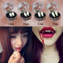 Horrific Fun Clown Dress Vampire Teeth Halloween decoration Party Dentures Prop Vampire Zombie Devil Fangs Teeth With Dental Gum(China)