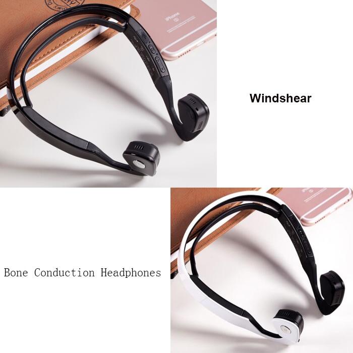 Black/white S.wear Bone Conduction WindShear Wireless Bluetooth Headset Outdoor Sports earphone Hands-free stocked drop shipping<br>