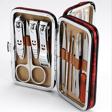 Stone Pattern Case+18 in 1 pcs Nail Clipper Kit Nail Care Set Pedicure Scissor Tweezer Knife Ear pick Utility Manicure Set Tools(China)