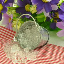Miniature Ice Cube Bucket 1:12 Scale Fairy Home Decoration Plastic Crafts Dollhouse