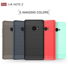 "( Xiaomi Mi Note 2 ) Case Cover Back For Fundas Xiaomi Mi Note 2 Note2 5.7"" Silicone Carbon Fiber Brushed TPU Mobile Phone Cases"