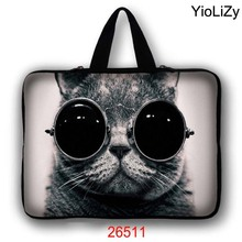 cat print 7 10 11.6 13 13.3 14 15 17 17.3 inch briefcase Notebook Case Laptop Sleeve mini PC tablet Ultrabook Bag cover LB-26511(China)