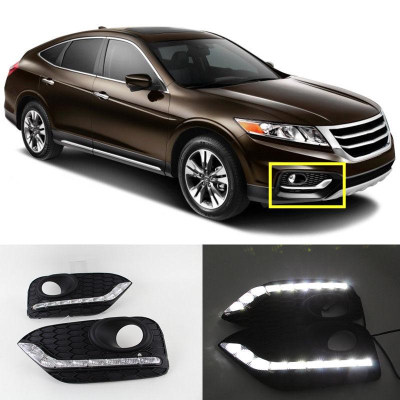 12V LED DRL For Honda CROSSTOUR 2014 2015 LED Daytime Running Light Daylight Fog Lamp<br><br>Aliexpress
