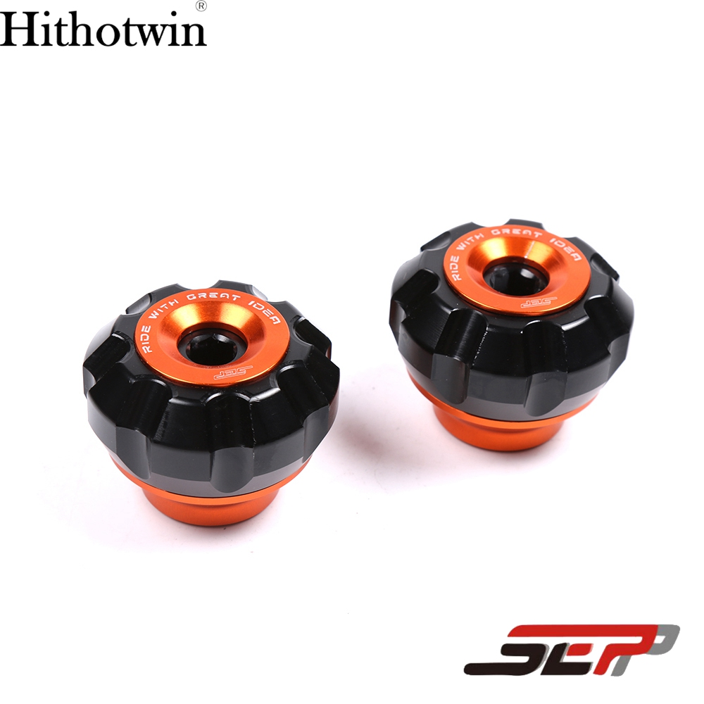 SEP Motorcycle Universal Front Fork Wheel Frame Sliders Crash Pads Slider Protection Yamaha nmax 155 125 Scooter