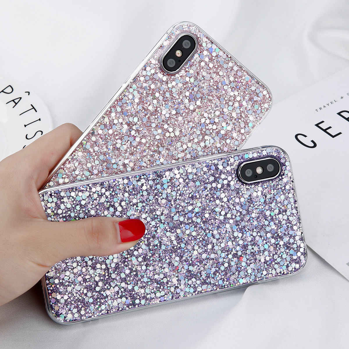 Detail Feedback Questions about NOWAL Bling Sparkle Glitter Case For iPhone  5 6 7 8 Plus XS Max XR Soft TPU Silicone Back Cover For iPhone 5S SE X 6 6S  7 ... a8203a84a8a7