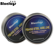 BlueJays 100M Fishing steel wire Fishing lines max power 7 strands super soft wire lines Cover with plastic Waterproof Brand new(China)