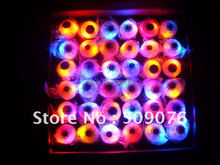 Free shipping 24pcs/lot TPR Fun Party Favors Flashing eyeball Party Finger Ring LED Light up Dark Halloween Party Supplies Gift(China)