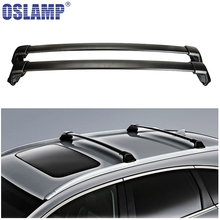 Oslamp 2pcs 60KG 132LBS Car Roof Racks Cross Bars Black Crossbars Cargo Luggage Top Carrier Snowboard for Honda CRV 2012-2016(China)