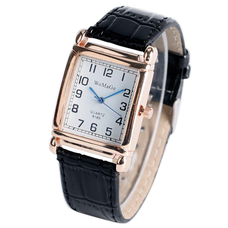 Trendy Elegant Casual Rectangle Wrist Watch Black Leather Strap New arrival Simple Student Quartz Ladies Women Clock Gift<br><br>Aliexpress