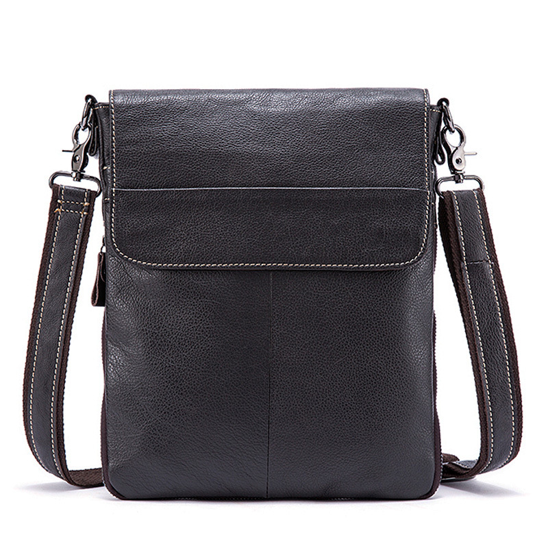 Cow Leather Men Shoulder Bag Saco Homens Genuine Leather High Quality Casual Crossbody Bag Male Small Flap Bolsa<br>