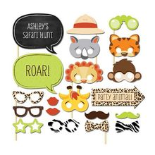 Nueva ArrivalSet de 20 Divertido Safari Jungle Animal Atrezzo Photo Booth en Un Palo Niños de Baby Shower Decoración Del Partido Centros de Mesa