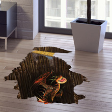3d Dinosaur Jurassic Park Creative Wallstickers For Boys' Bedroom/living Room Ceramic Wood Floor Pvc Decoration Mural Paper-44